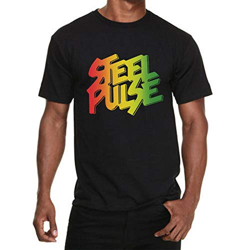 NR Steel Pulse Shirt Roots Reggae Musical Band Black Steel Pulse T-Shirt