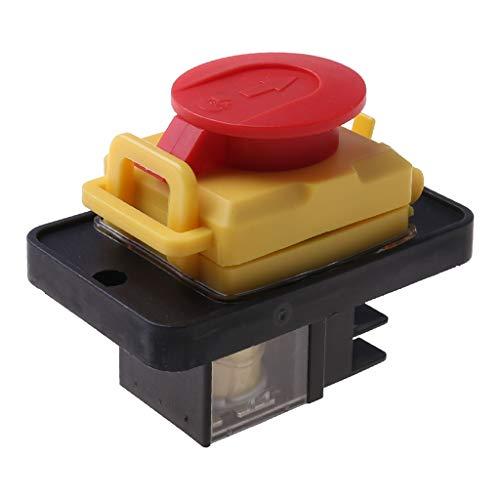 Folewr Interruptor de botón de liberación de voltaje magnético resistente al agua 12 250V 4Pin