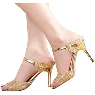 Women's Sandals OverDose Ladies Ankle High Heels Open Toe Shoes (35 EU)