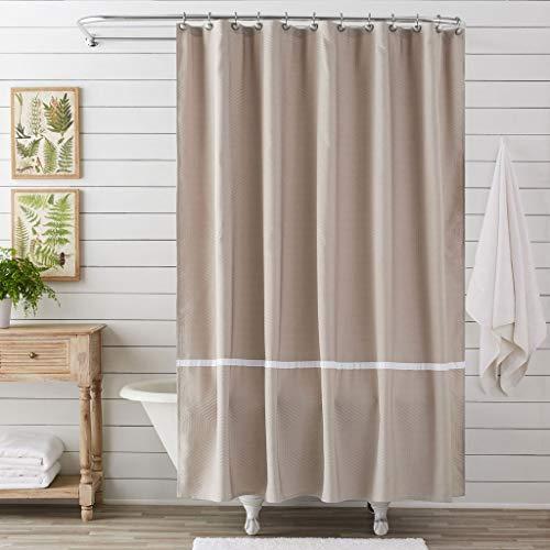 LUGEUK Cortina de ducha de tela de poliéster con diseño geométrico abstracto, decoración de baño, color gris pardo, 72 x 72 pulgadas, lavable a máquina