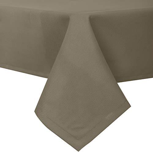 EUGAD Tischdecke Abwaschbar Tischwäsche Wasserabweisend Tischtücher Lotuseffekt Eckig viele Größe Farbe wählbar, 130x160 cm Taupe