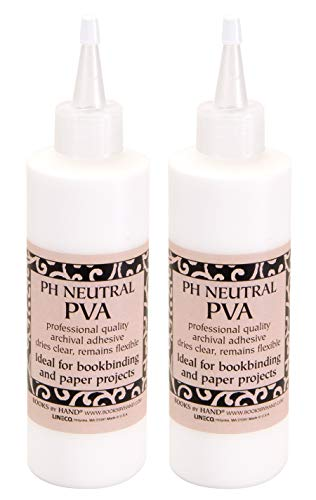 Books by Hand, Pack 2, pH Neutral PVA Adhesive Size 8 oz (BBHM217). Ideal for...