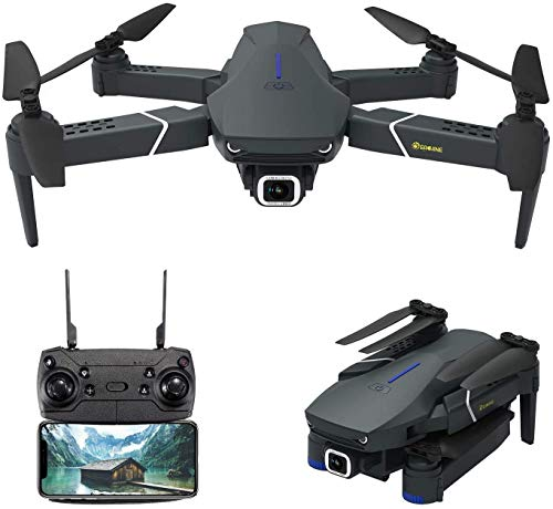 EACHINE E520 Drone with 4K Camera Live Video,WiFi FPV Drone for Adults with 4K HD 120 Wide Angle Camera 1200Mah Long Flight time Auto Hover Foldable RC Drone Quadcopter