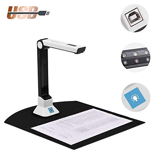 Purchase POEO Document Cameras Scanner, Portable Professional Book File Scanner, with Auto Focus, Fo...