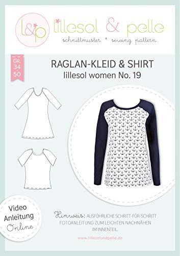 lillesol & pelle Schnittmuster lillesol Women No.19 Raglan-Kleid & Shirt in Größe 34-50 zum Nähen mit Foto-Anleitung und Video
