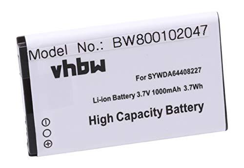 vhbw Akku passend für Twintel DP-L10 Handy Smartphone Handy (1000mAh, 3,7V, Li-Ion)