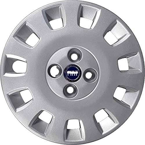 AUTOFORNITURE ITALIA 1 tapacubos para rueda de 14 pulgadas, con logotipo azul Idea – Punto Classic