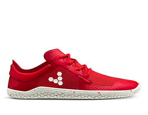 VIVOBAREFOOT Primus Lite II Reciclado IWD, Zapato transpirable para mujer con movimiento ligero vegano con suela descalza, color Rojo, talla 42 EU