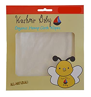 Kashmir Baby (40 Pack) Organic Cloth Diapering Wipes Hemp/Bamboo. Reusable. Washable.