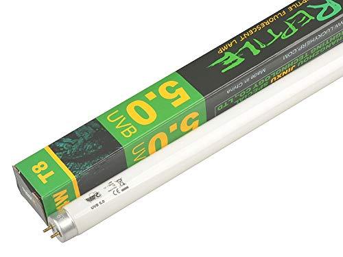 Bombilla de terrario tropical 5.0, tubo de luz fluorescente para reptiles, T8, 14 W