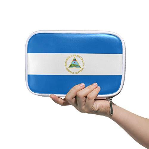 Estuche organizador de lápices con bandera de Nicaragua
