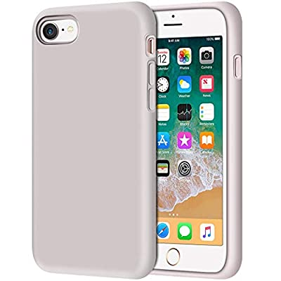 "Anuck iPhone SE 2020 Case, iPhone 8 Case, Non-slip Liquid Silicone Gel Rubber Bumper Case Soft Microfiber Lining Hard Shell Shockproof Full-body Protective Case Cover for iPhone 7/8/SE 4.7"" - Lavender"