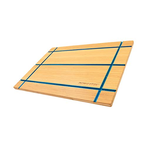 POWERTEC 71361 T-Track Table Top | Wooden T-Track Accessories for Woodworking - Premium Bamboo Workbench Top Edition