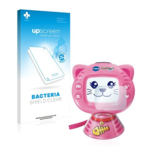 upscreen Protector Pantalla Compatible con Vtech KidiPet Touch 2 (Gato) Película Protectora Antibacteriana