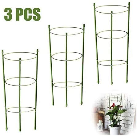 18 ,18 Plant Support Cages 18 Inches Plant Cages with 3 Adjustable Rings Pack of 3