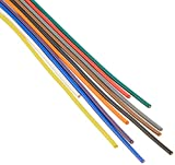 協和ハーモネット 耐熱通信機器用ビニル電線 H-PVC 0.65mm 2mX10色 茶赤橙黄緑青紫灰白黒