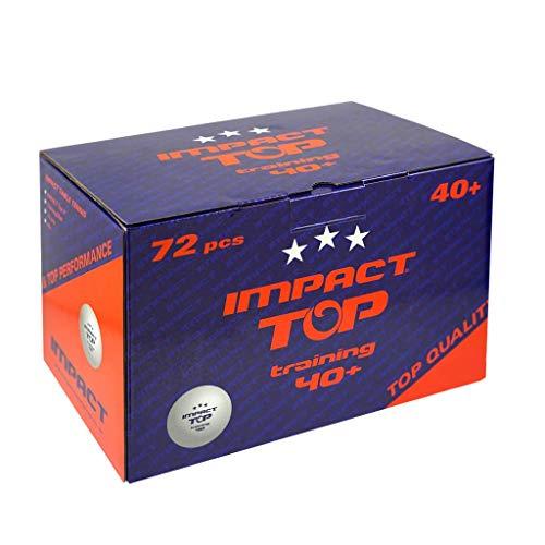 IMPACT TOP Training Tischtennisbälle, Orange, 72 Stück