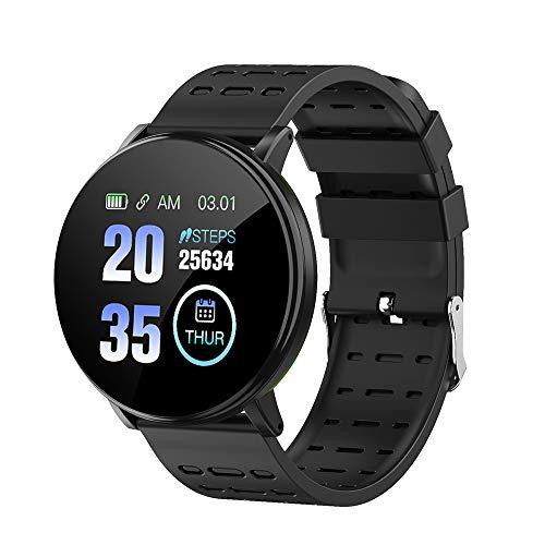 Walmeck- Reloj Inteligente Y19 Pantalla a Color BT Sports IP68 Impermeable Pasos del Reloj Cuenta de la presión Arterial Monitoreo de la frecuencia cardíaca Reloj de Fitness
