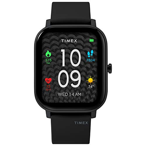 Timex Metropolitan S AMOLED Smartwatch with GPS & Heart Rate 36mm – Black with Black Silicone Strap