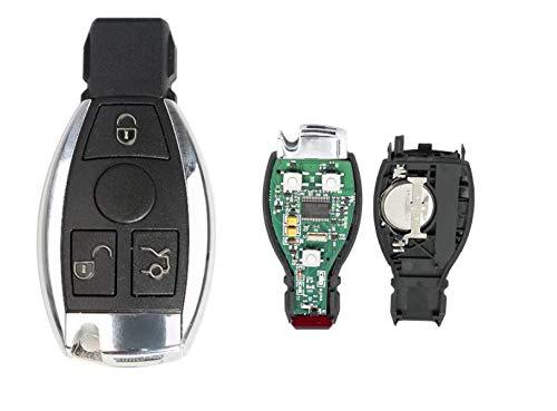 Llave electrónica virgen compatible con Mercedes 2001-2015 a programar.