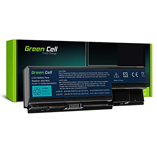 Green Cell Standard Series Battery for Acer Aspire 5220 5230 5300 5310 5315 5320 5520 5530 5710 5720 5720Z 5730ZG 5739 5739G 5920 5920G 5930 Laptop (8 Cells 4400mAh 14.8V Black)