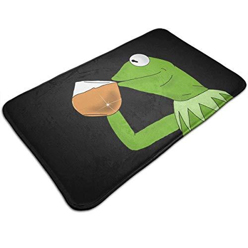 TEIJWETEIJT Kermit der Frosch Tee-Fußmatte für den Eingangsbereich, Fußmatte für den Innen- und Badezimmerbereich, rutschfest, ideal für Fußmatte (50,8 x 81,3 cm)