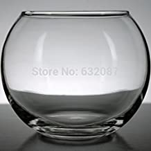 Betty Store 12CM Top Open Glass Ball Terrarium Landscape Container Fashion Glass Fish Bowl Home Decorative Glass Vase