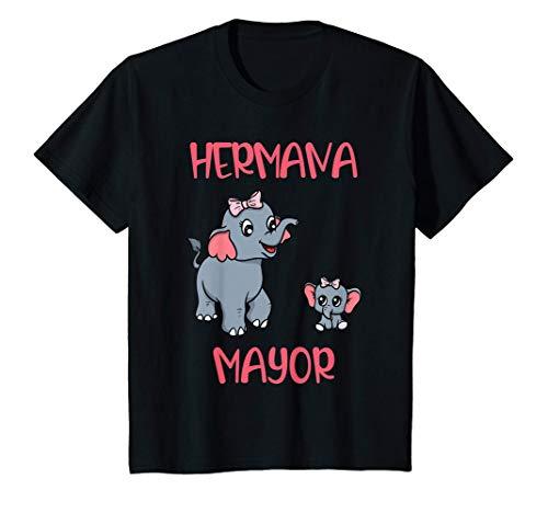 Niños Hermana Mayor Elefante Niña Regalo Camiseta