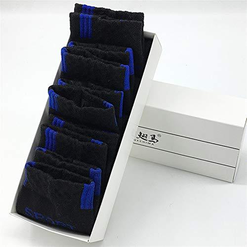 YANSHAN 10 PCS = 5 Pares de Calcetines de los Hombres Tobillo Cortos Calcetines Hombres Malla sólida Negocios Casas Delgadas ocasas Calcetines Transpirables