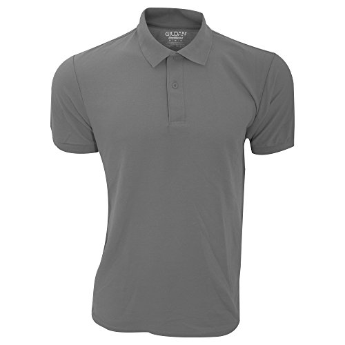 Gildan DryBlend - Polo Sport - Homme (XL) (Gris foncé)