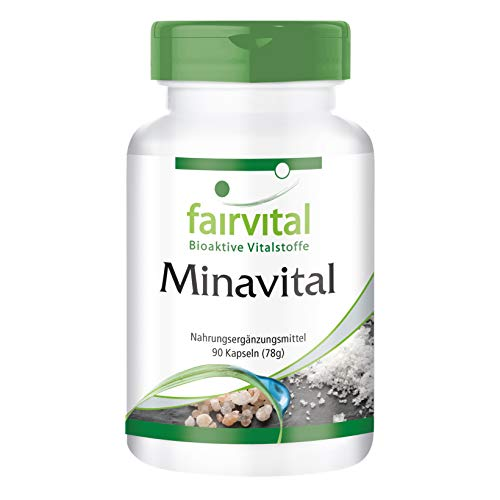 Multimineral Komplex - Minavital - HOCHDOSIERT - VEGAN - Mineralien & Spurenelementen - 90 Kapseln
