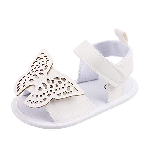 YWLINK Sandalias De Bebé, Zapatos para NiñOs PequeñOs, Zapatos Princesa, Principiantes, Zapatos para Gatear, Sandalias De Cuero, Brillantes, Antideslizantes, Mariposa, NiñAs