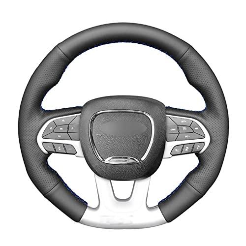 KKZQL Black PU Artificial Leather Car Steering Wheel Covers for Dodge (SRT) Challenger Charger Durango 2015 2016 2017-2021 Graythread
