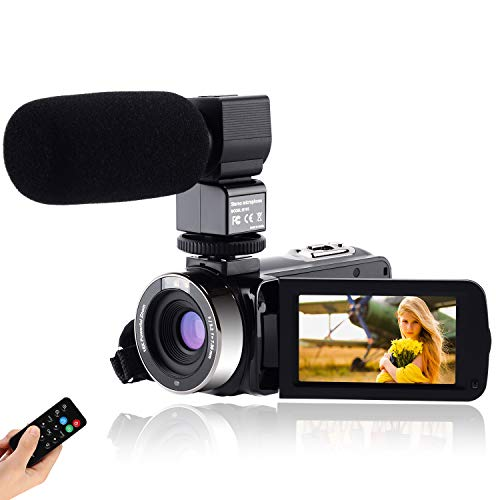 CofunKool Video Camara 1080P Videocámara 24MP FHD Vlogging Camara para Youtube,...