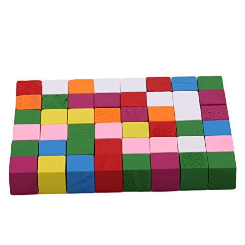 Ristiege Quadratisches Gebäude Holzwürfelblöcke Frühes Lernen Lernspielzeug für Kinder,15mm