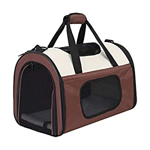 Kosttapaws Pet Carrier, Airline Approved Dog Carrier, Small Cat Carrier, Portable Breathable Pet Travel Carrier, Collapsible Soft-Sided Mesh Puppy Carrier for Small Medium Large Dogs