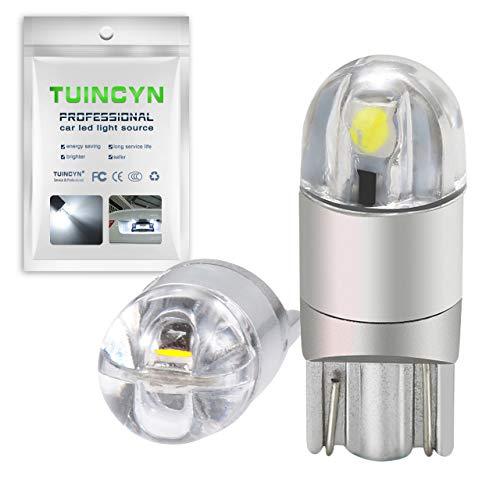 TUINCYN T10 194 168 Bombilla LED Blanca 2825 W5W Enchufe 2SMD 3030 Chips Luz interior del coche Mapa Domo Lámpara Cortesía Placa de licencia del maletero 12V-24V (2 piezas)