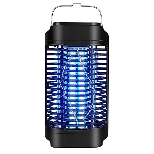Electric Bug Zapper 18W for Outdoor & Indoor, Effective 4200V Mosquito Zapper Killer, Waterproof Mosquito Trap & Insect Fly Zapper (Black)
