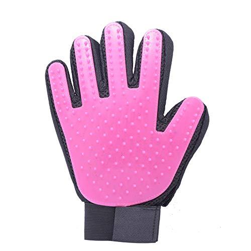 ZHANGXIAOYU Katze Kamm Haustier klebrige Haarlinie und Anti-Greifer Handschuhe Katze zu Katze Haarwäsche Artefakt Katze Hundebürste Hundehaarausfall (Color : Pink)