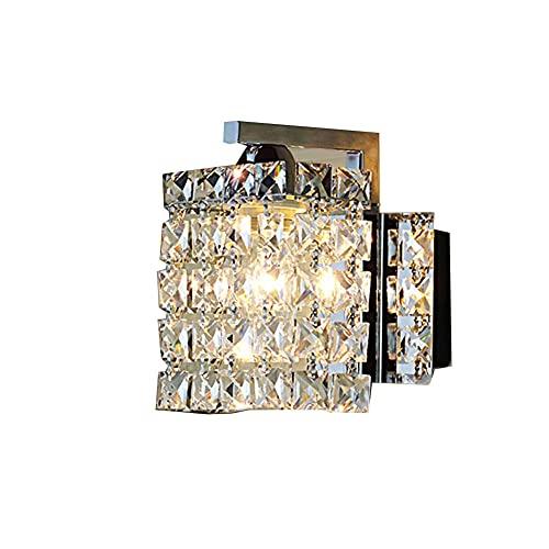 Lámpara de Pared, Crystal Wall Light E14 Vidrio Moderno Lámpara de Pared de Lluvia Sofá Luminosa decoración Luz Para La Cama del Hotel Salón Comedor [clase Energía A ++]