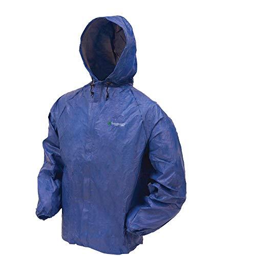Frogg Toggs Men's Ultra-Lite2 Waterproof Rain Jacket, Blue, Large