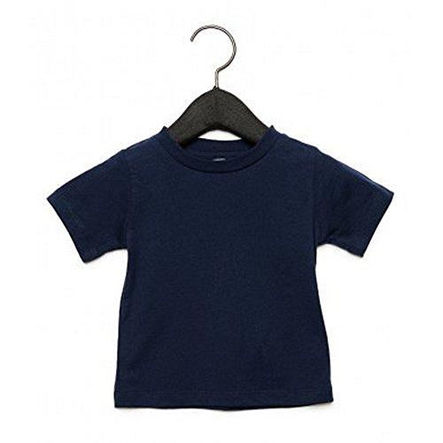 Bella + Canvas Camiseta de Manga Corta con Cuello Redondo Para Bebé (3-6 Meses/Azul Marino)