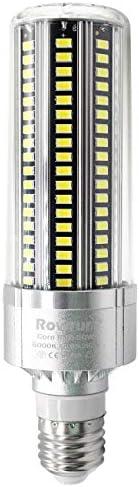 LED Corn Light Bulb 50W E26 with E39 Large Mogul Base Adapter Daylight White 6500K 5500LM AC85 product image