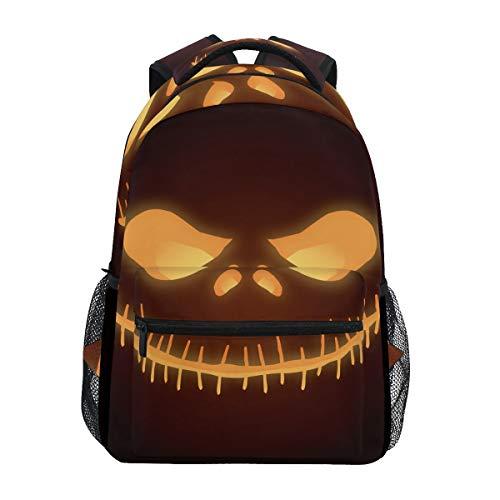 Cráneo Fantasma Calabaza Mochila Escolar Impermeable Mochilas Escolares para Estudiante Adolescentes Niñas Niños