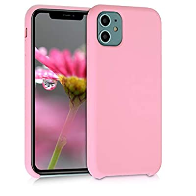 kwmobile TPU Silicone Case Compatible with Apple iPhone 11 - Soft Flexible Rubber Protective Cover - Light Pink