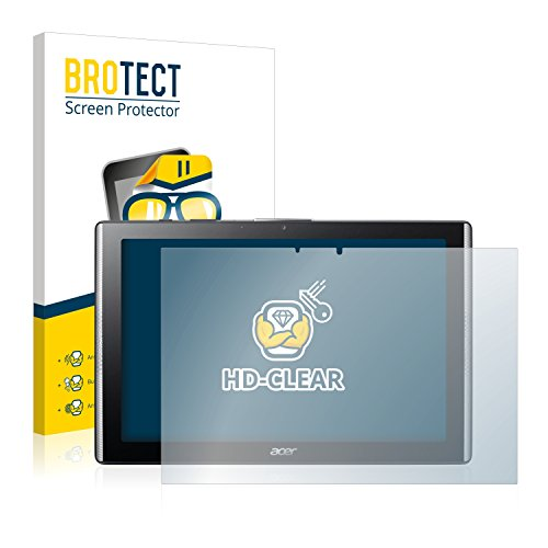 brotect 2-Pack Screen Protector compatible with Acer Iconia One 10 B3-A40 - HD-Clear Protection Film