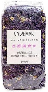 Valdemar Manufaktur MALVENBLÜTEN, 500ml Premium-Qualität - HANDVERPACKT In Deutschland