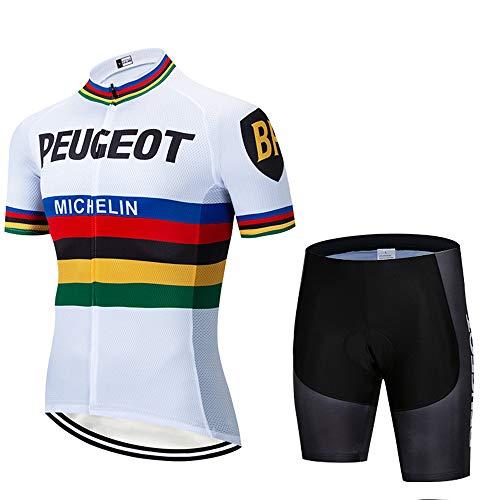 MTBHW Equipacion Ciclismo Hombre Ropa Ciclista y Pantalones Cortos Conjunto Ciclismo Verano