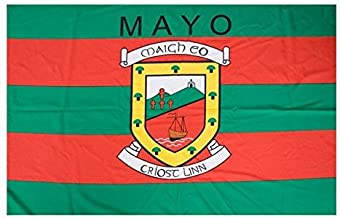 Mayo Official Ireland GAA Crest County Flag 152cm x91cm Very Limited Stock