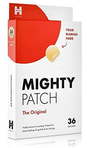 Mighty Patch Original-Hydrokolloid-Pflaster gegen Aken/Pickel, für Gesicht, Vegan, ohne Tierversuche, 36 Stück